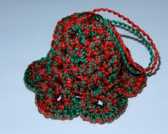 Bell Christmas Ornament - Red and Green