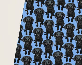 Blue Labrador Gift Wrap, Labrador Gift Wrap, Blue Gift Wrap, Labrador Wrapping Paper, Wrapping Paper, Cute Gift Wrap, Boys Wrapping Paper