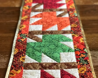 Fall Quilted Table Runner - Fall Leaves Table Runner - Quilted Table Runner for Thanksgiving