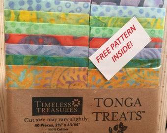 """Tonga Treats Batiks - Tahiti 21/2"""" strips"""