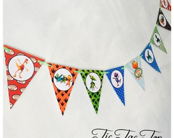 Dinosaur Train Party Birthday Bunting Banner Flags. Supplies Lolly Loot Bag Cake Invitation Room Decoration Topper Balloon