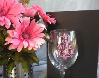 Time for wine stemmed wine glass