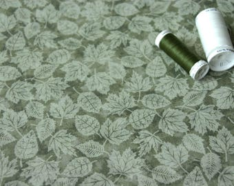 Coupon fabric patchwork pattern leaf green