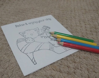 Colour your own shoe cat card | Mothers Day | Birthday | Mum | Sister | Friend | Invitations | | Thank you