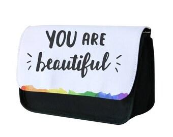 You Are Beautiful - Pride Pencil Case / Makeup Bag - Fun Cases
