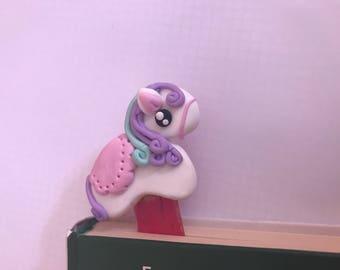Pony bookmark, creation in Fimo