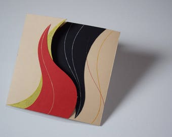 """Card """"Curved Lines"""""""