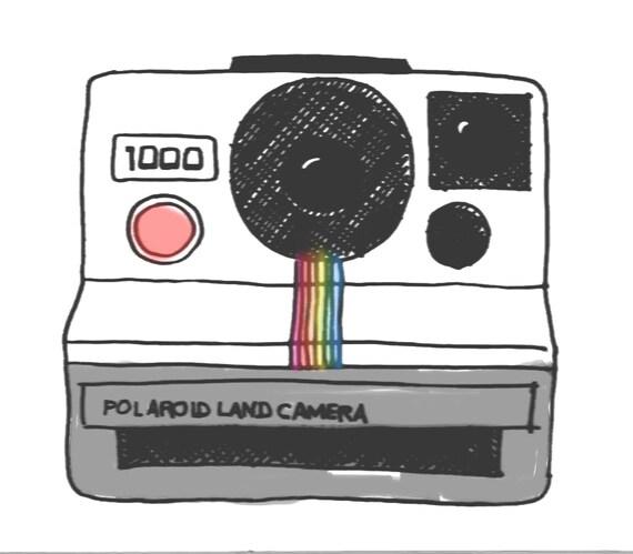 Polaroid clipart Hand drawn. hand drawn camera Clip Art