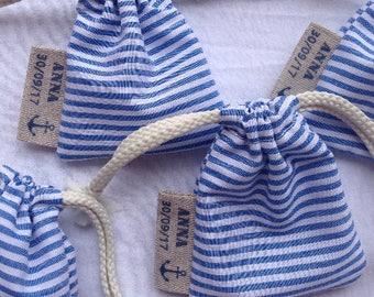 """Set of 30 pouches on the """"Sea"""" theme"""