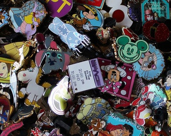 50 Disney pins & 1 Random Lanyard for your Own Disney Pin Necklace Shipped from The USA