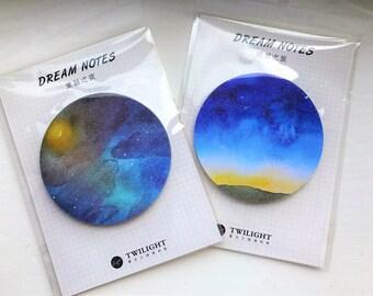 Starry Memo Pad // Post-it-notes // Galaxy // Midnight Sky // Sunset
