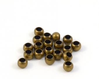 Bronze - 2.5mm or 3mm - 100 or 1000 Crimp beads