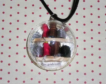 Dome necklace my little books (book necklace)