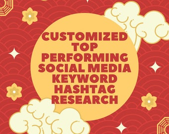 Customized TOP PERFORMING Social Media HASHTAG Research - Keyword Research - Niche Related - Keyword Optimization - Instagram Deep Analysis