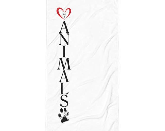 Heart of Love for Animals - Beach Blanket