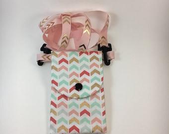 Handmade small crossbody phone purse