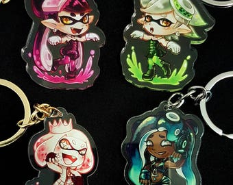 Nintendo Series Collection: Splatoon [Doublesided Acrylic Clear Keychains]