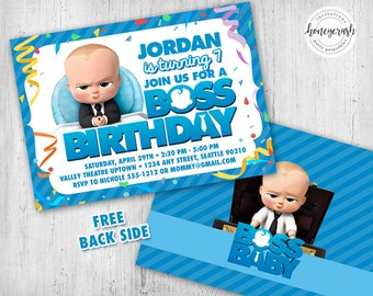 Boss Baby Birthday Invitation - Printable Digital File