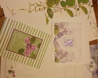 Vintage Stationery Collection ~ Pretty Purple Violets