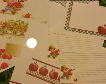 Vintage Stationery Collection ~ Apples ~ Little Darlin's Apples Collection