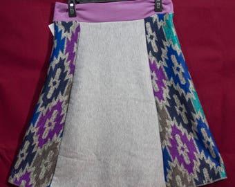 Soft fleece purple and grey Tskirt