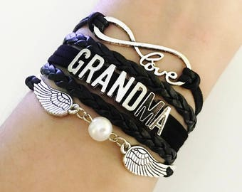 Grandma bracelet, Grandma gift, Grandmother jewelry, Gift From GrandDaughter, Grandma birthday gift, Gift from GrandDaughter to Grandma