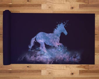 Yoga Mat with Carry Bag - Pilates Mat - Yoga gift for him/her - Thick Yoga Mat - Exercise Mat - Ghost Unicorn