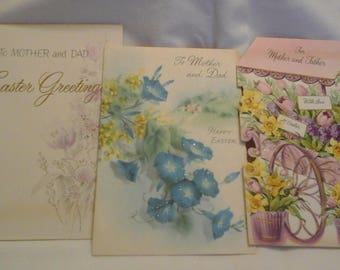 Vintage Easter to Mom & Dad cards