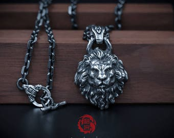 Sterling Silver 925 Lion Pendant ONLY (without chain), Songyan Jewelry