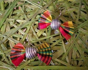 madras bow earring