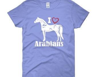 I Love Arabians Womens Short Sleeve T-shirt