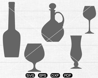 Red wine SVG, bottle, pot, wine cup svg Clipart, cricut, silhouette cut files commercial use