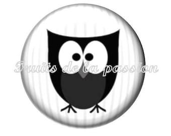 1 round, 30 mm cabochon, animals, OWL