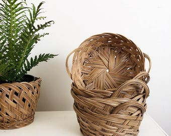 Wicker Basket//Bowl Set