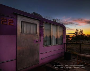Old No. 22 El Cosmico , Landscape Photography, Home Decor, Wall Art, Texas Gift, Marfa