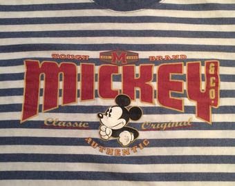 Vintage Mickey striped tee