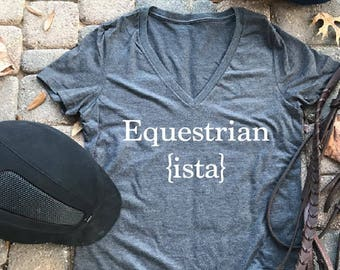 Equestrian {ista}, equestrian shirts, horse tshirts, equestrian shirt, barn shirt, horses, equestrian, horse shirt for girls, horses,