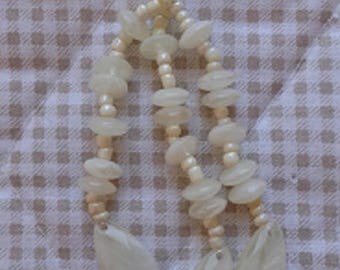 Sale the unte POMPOM TASSEL 3 BranchesECRU - Marbled - resin beads