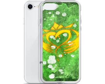 Hand Drawn Irish Celtic Claddagh iPhone Phone Case