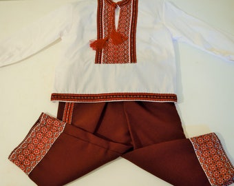Traditional Transylvanian Costume For Little Boy