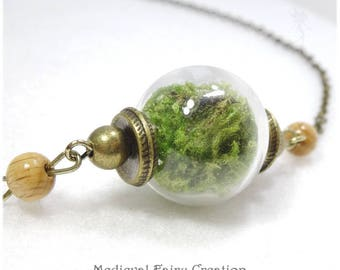 """Necklace """"Fairy bed"""" glass and foam"""
