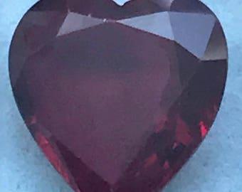 22.48ct Heart shape Ruby imitation 18.90x18mm
