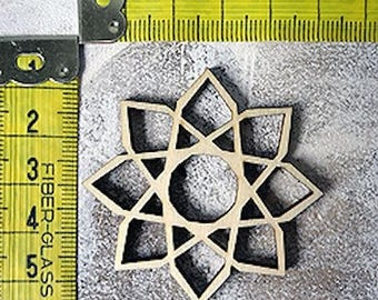 Rosette embellishment 362 wood for your creations