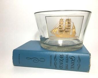 RARE Vintage MCM Culver Sailboat Ice Bucket