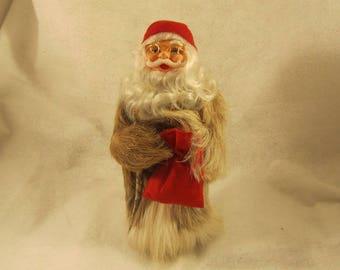 Santa Old St. Nick in a Genuine Fur coat made in Finland