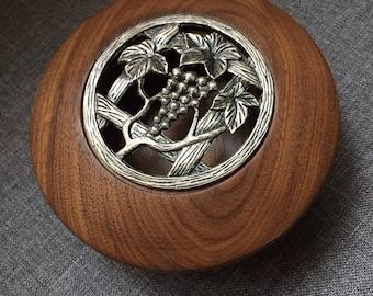 Mahogany potpourri bowl