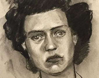 Vintage Mugshot Drawing - Clarine