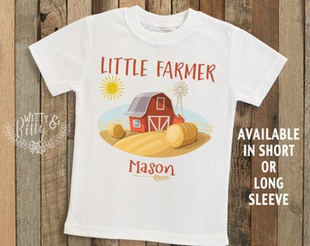 Little Farmer Personalized Kids Shirt, Customized Tee, Personalized Tee, Farmer Kids Shirt, Country Kids Shirt, Rustic Kids Tee - T379L