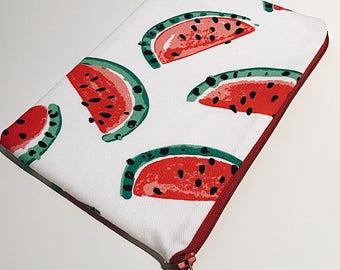 Watermelon Fabric Pouch / purse / case with zipper