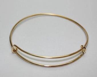 Adjustable unisex bracelet, golden color